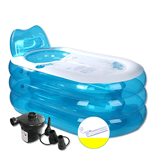 Super Black Bull - Bañera de baño Grande Transparente Azul con ...