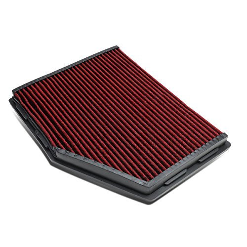 For BMW 5 Series / Z4 M Reusable & Washable Replacement Engine High Flow Drop-in Air Filter (Red)