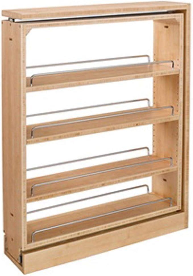 Rev A Shelf 3 Inch Base Filler Pullout Kitchen Wooden Spice Rack Holder Shelves