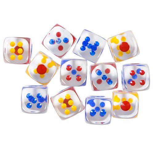 1'' TRANSPARENT DICE, Case of 360 by DollarItemDirect
