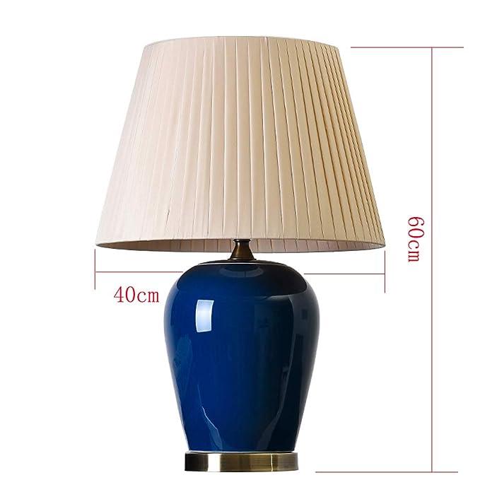 Amazon.com: Xiao Mi Guo Ji- Ceramic Table Lamp Gemstone Blue ...