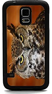 Rikki KnightTM Barn Owl Close-Up Design Samsung? Galaxy S5 Case Cover (Black Rubber with front Bumper Protection) for Samsung Galaxy S5 i9600 by mcsharks