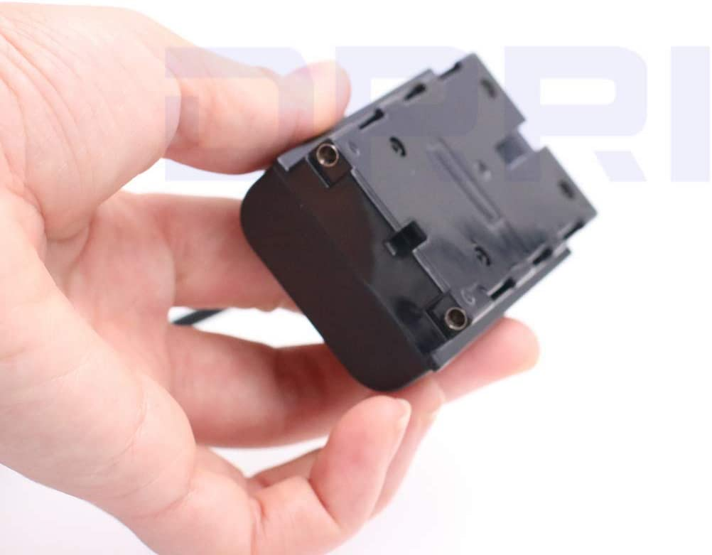 DRRI NP-F Dummy Battery DC Coupler Dtap Adapter Cable for Sony NP-F990 NP-F970 F960 F770 F750 F550