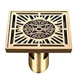 Floor drain/full copper antiquity and antiquity floor drain bathroom shower room, bathroom, bathroom, bathroom, bathroom, bathroom, bathroom, sewer, pure copper square floor drain,Bronze U type