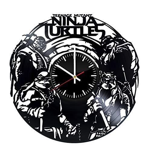 Ninja Turtles Vinyl Record Wall Clock - Original HANDMADE Gift for Boys -