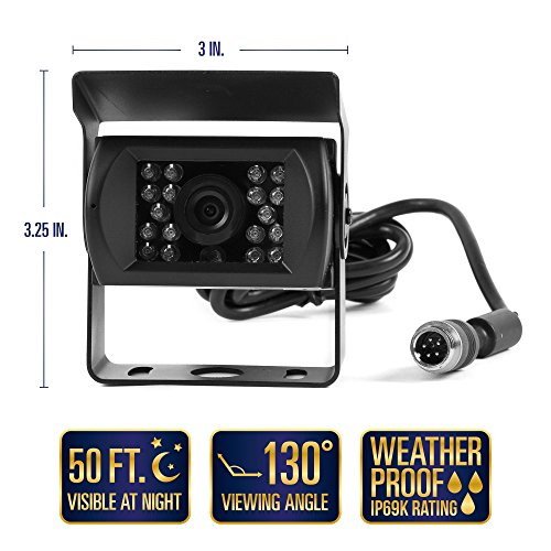 """Rear View Safety Backup Camera System with 7"""" Display (Black) RVS-770613"""