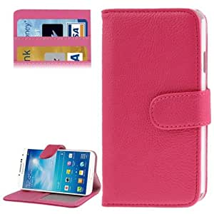 Texture lichis Leather Funda con Holder Case Cover & Credit bolsillos internos para Samsung Galaxy J/N705T () Magenta