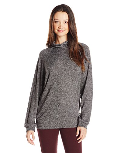 Roxy Women's Vinissa Loose Fit Fleece Pullover Top, Charcoal Heather, Medium by Roxy