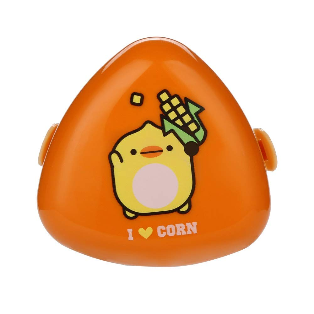 HighlifeS Lunch Bag Cartoon Shape Lunch Box Food Container Cartoon Cute Storage Box Portable Bento Box (Orange)