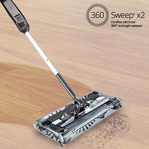 360 Sweep Rectangular Electric Sweeper - (UK 3 Pin Plug)