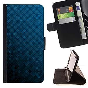 Momo Phone Case / Flip Funda de Cuero Case Cover - Textura azul Cubos - Apple Iphone 6 PLUS 5.5