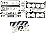 VICTOR Cylinder Head Gasket Set+BOLTS for Chevy GMC 5.7 350 VIN-K TBI 1987-96 (Head Set & Bolts)