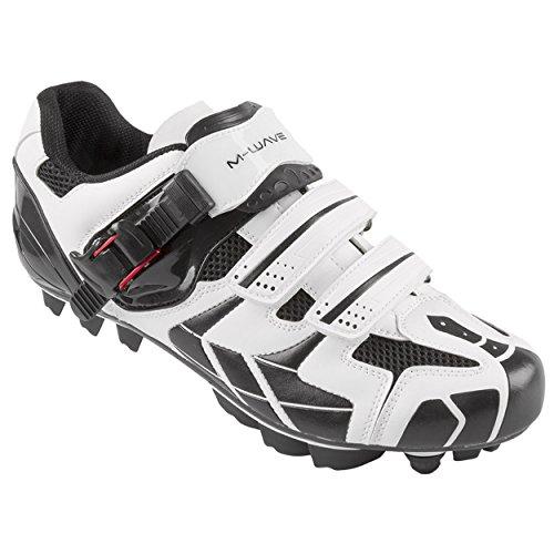 M-Wave X1 Mountain Bike Shoe, White/Black, 44