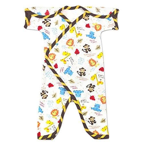 Perfectly Preemie Short-Sleeve NIC-Jumpsuit - NICU Friendly (Safari, Preemie ()