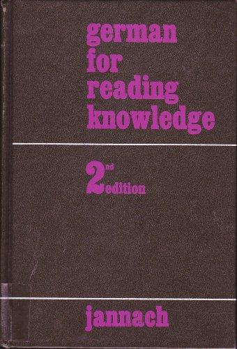 German for Reading Knowledge -  Van Nostrand Reinhold Company