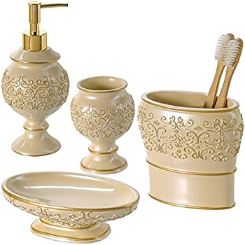Amazoncom Creative Scents Shannon Bathroom Accessories Set 4