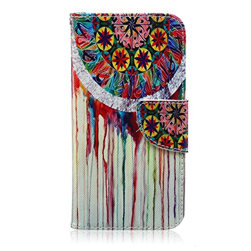 Galaxy J7 Case,(Mural Wall Painting)Slim Fit PU Leather Flip Wallet Card Slots Stand Protective Cover for Samsung Galaxy J7 -