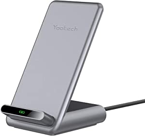 Yootech Fast Wireless Charger,7.5W Wireless Charging Stand Compatible with iPhone 11/11 Pro/11 Pro Max/Xs MAX/XR/XS/X/8,10W for Galaxy Note10/S10/S9,15W for LG V30/V35/G8(No AC Adapter)