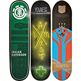 3 Skateboard Deck Decks 7.75 Almost Element Habitat Bulk Lot