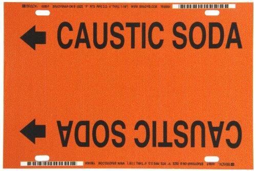 Brady 4308-F Black on Orange, Strap-On Pipe Marker, Legend