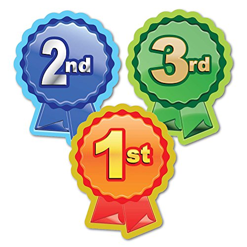 Sticker Solutions 1st, 2nd, 3rd Rosette Sticker (Pack of 60)