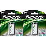 2 Energizer Rechargeable 9 volt Batteries, (NH22NBP)