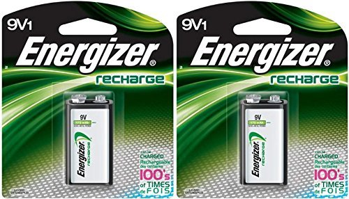 2 Energizer Rechargeable 9 volt Batteries, (NH22NBP)