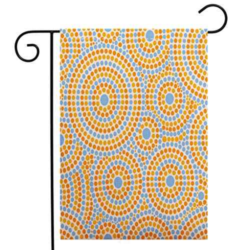 - Creative Home Garden Flag Summer dot pattern vector seamless Abstract geometric dotted circles print Design for fabric wallpaper wrapping Garden Flag Waterproof for Party Holiday Home Garden Decor