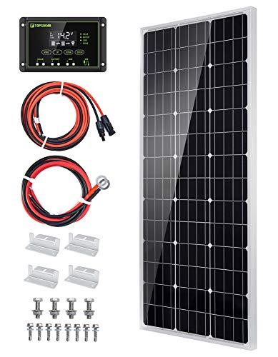 51%2BGDer27DL 100W 12V Solarpanel Solarmodul Solarpanel-Set 100 Watt 12 Volt Monokristallines Off-Gitter-System für Wohnmobil, Boot…