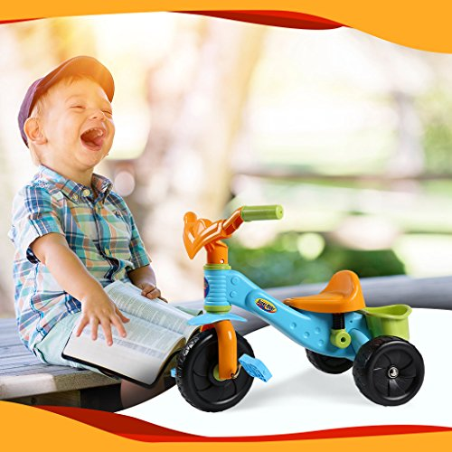 Virhuck Kids First Ride Trikes for Kids Toddlers Children Tricycle 3 Wheel Pedal Bike for 1 2 3 4 Years Old Kids Boys Girls, Multi-Coloured, Maximum Weight 30 KG by Virhuck (Image #2)