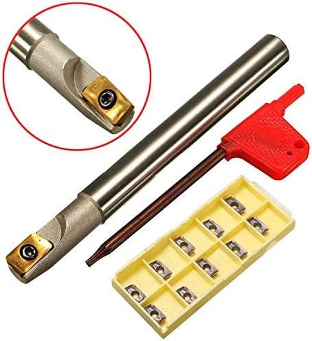 GENERICS LSB-Werkzeuge, 1 stück BAP 300R C10-10-100 Werkzeughalter + 10 stücke APMT1135PDER Wendeschneidplatten mit Schraubenschlüssel for CNC Fräswerkzeug