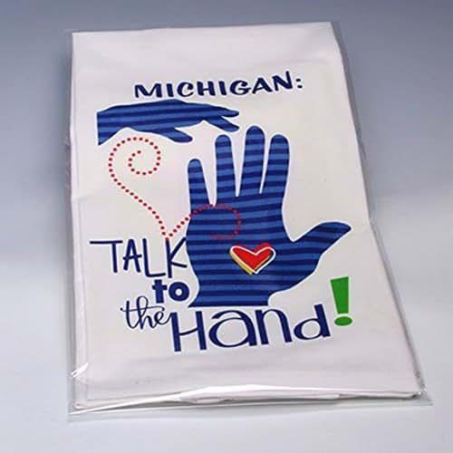 Amazon.com: Personalized Hand-printed Michigan Kitchen Tea