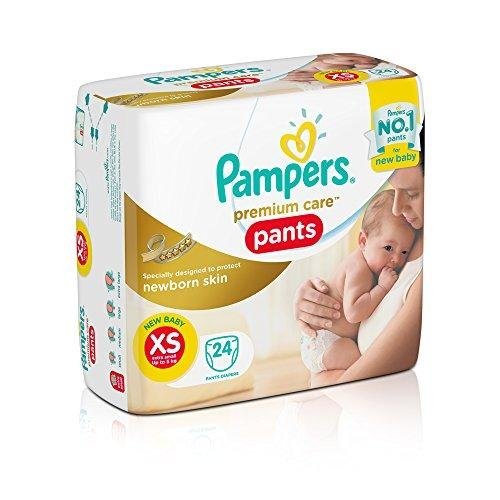 Pampers Premium Care Pampers Extra Small Size Premium New Born Care Diaper Pants (24 Count)