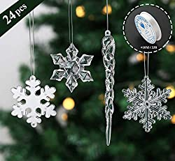 Acrylic Crystal Christmas Tree Clear Hanging Decoration