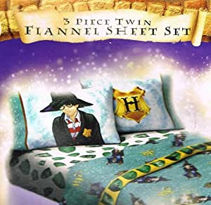 Amazon Com Harry Potter Twin Flannel Sheet Set Bonus