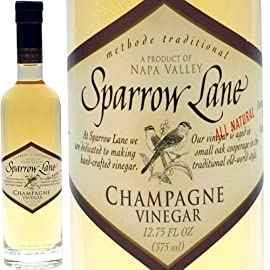 Champagne Vinegar - 1 bottle - 12.75 fl oz 2 Product Size: 1 bottle - 12.75 fl oz From USA, by Sparrow Lane Click the Gourmet Food World name above to see all of our products. We sell: