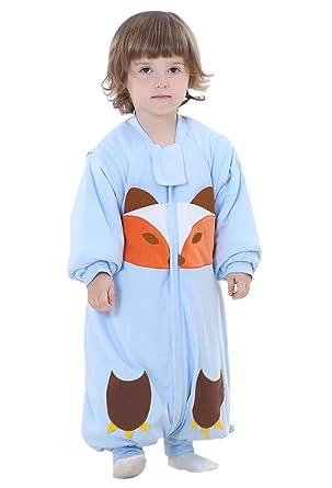Happy cherry - Bolsa de Dormir de Bebé de Mangas Largas Gruesa del Mameluco del Mono Saco de Dormir Niñas Niños 1.5-4 Años: Amazon.es: Bebé