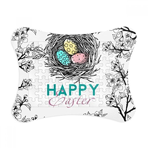 - Happy Easter Religion Festival Egg Nest Paper Card Puzzle Frame Jigsaw Game Home Decoration Gift