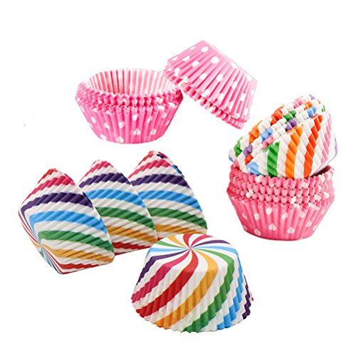 Rainbow Cupcake Liners Baking Cups Wraps Muffin Paper Cups P