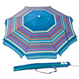 Abba Patio 7 Feet Beach Umbrella with Sand Anchor, Push Button Tilt