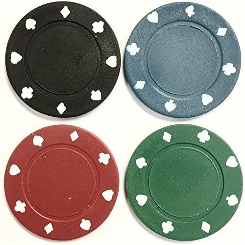 400x jetons de poker–Sabot Designs en 4couleurs