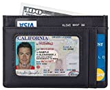 SimpacX Slim Wallet RFID Front Pocket Wallet Minimalist Secure Thin Credit Card Holder (napa black)