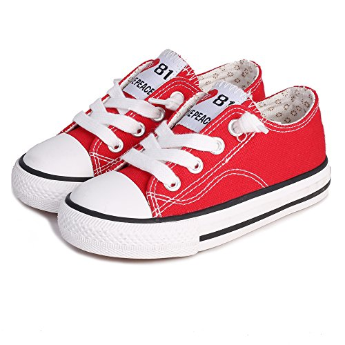 Weestep Canvas Sneaker (13, Red)