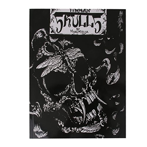 (50 Pages Tattoo Reference Book Instruction Sheet Flash Art Skull Skeleton)