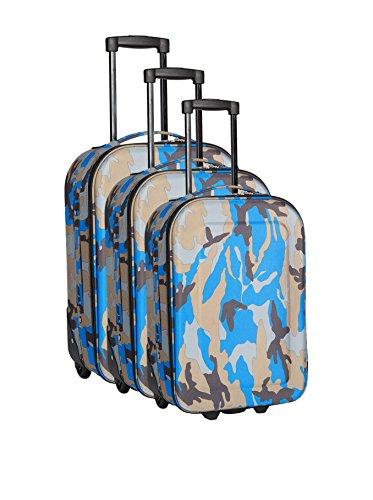 trolleys 3 semirrígidos de Azul Gris Set PARKWAY q7OHnwv7