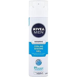 Nivea Men Sensitive Cooling Shaving Gel, 200 ml - Pack of 6