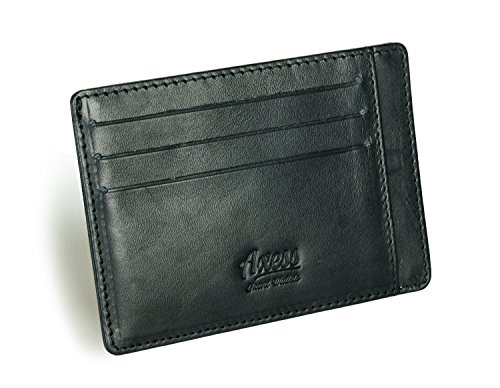 Tuscany RFID Minimalist Axess in from Holder leather Pocket Wallet Front Card HtS4gFt