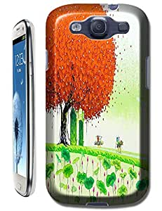 LKPOP Samsung Galaxy S3 i9300 Cases / Covers Design With Beautiful Oil Paintings Trees Colorful Cell Phone Hard Case ( Color Red )
