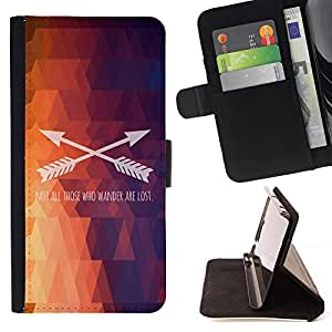 Momo Phone Case / Flip Funda de Cuero Case Cover - Polígono Flecha patrón texto fuego púrpura - Motorola Moto E ( 2nd Generation )
