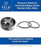 Felji Extractor Blade Cutter includes 2 Gaskets for NutriBullet Blender 600w 900w
